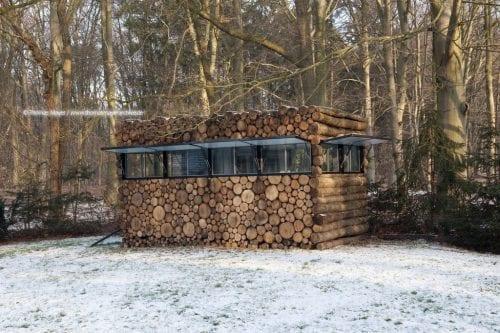 TREE TRUNK GARDEN HOUSE
