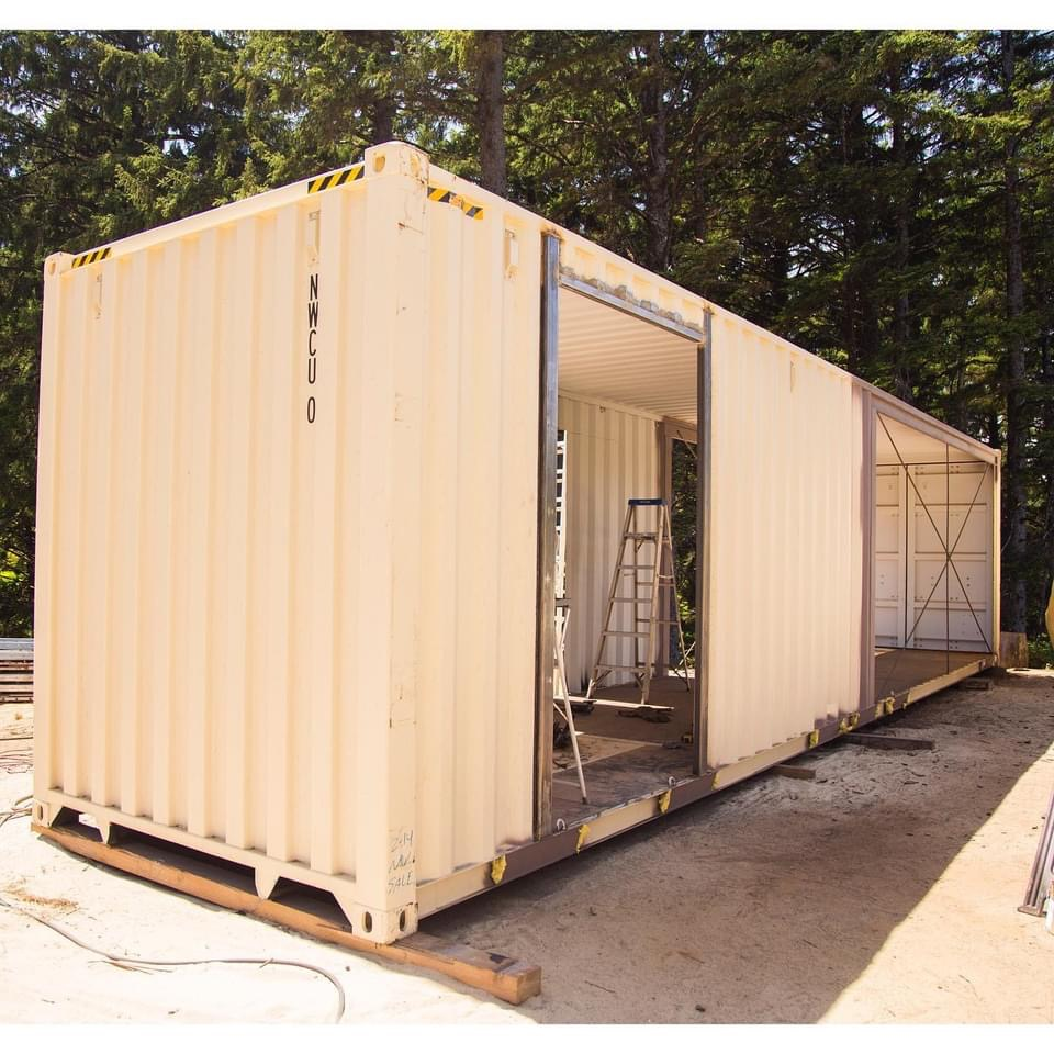 Oregon shipping container home exterior