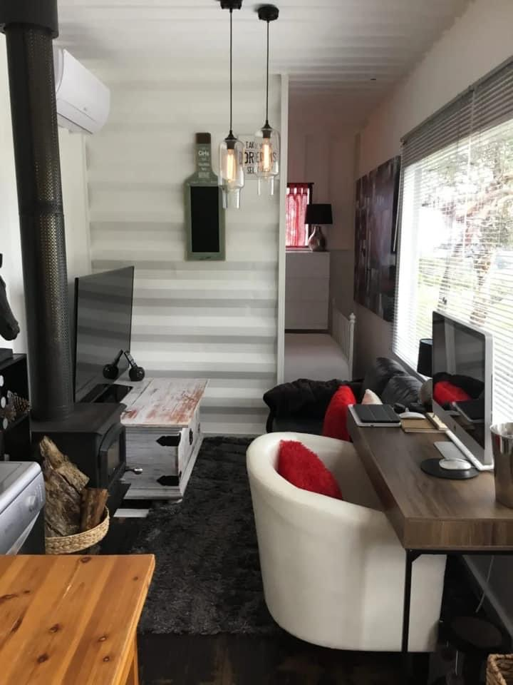 UK container home interior