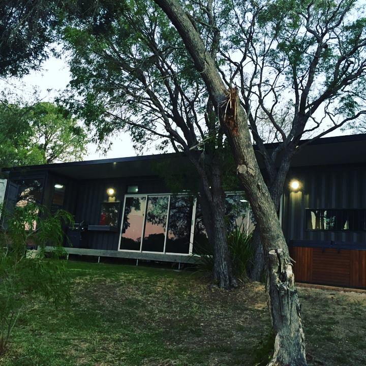 australia container home exterior