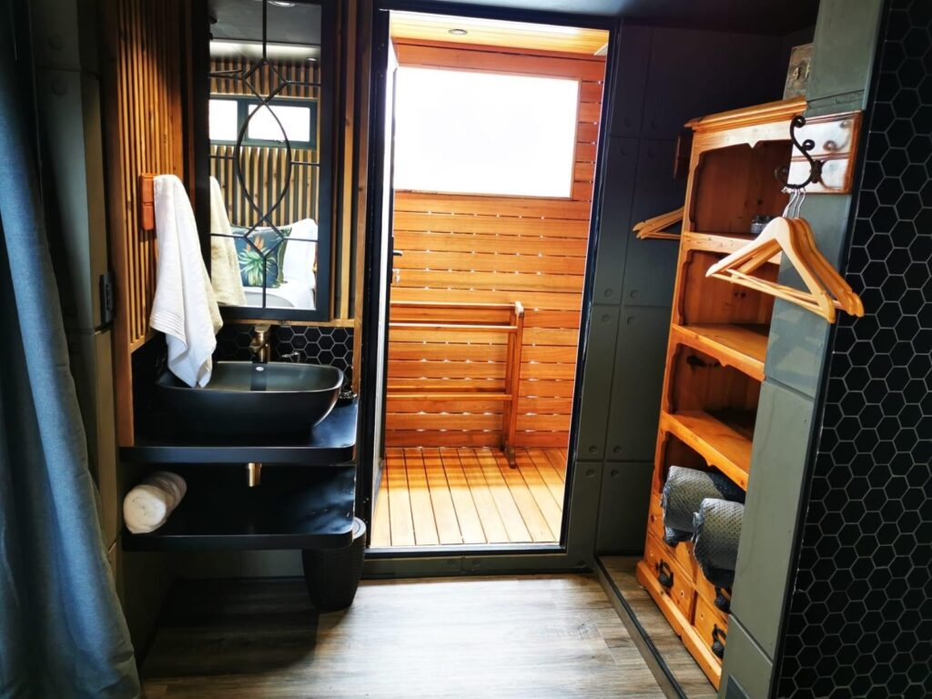 africa container home interior